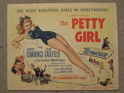 The Petty Girl   -   Original Title Card -  Caufiled- Petty Art