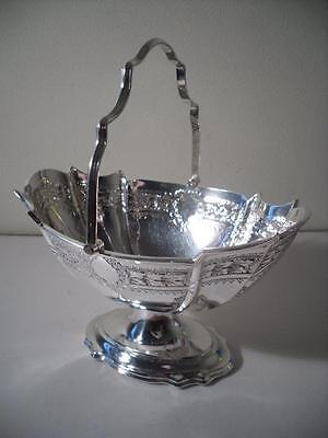 An Antique Silver Table Basket With Fine Decoration: Sheffield 1895