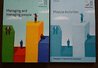 OU Managing 1: organisations and people course set of 2 books, NEW