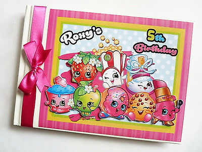 Personalised Shopkins Girl /first/1St Birthday Guest Book Any Design