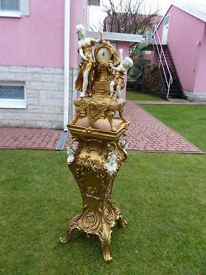 Clock Italy Baroque Style  Hand - Carved Clock