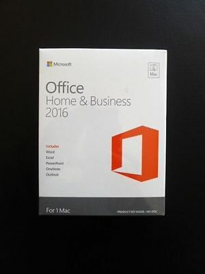 Microsoft Office 2016 Home and Business W6F-00550 - 1 PC LicenseKey FOR (MAC)