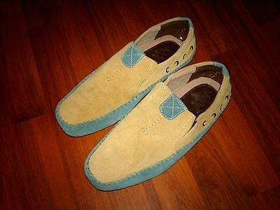 """NWOB~Men's """"Sage~ Brand"""" Real Suede Moccasin-Style Shoes (size UK 9)"""