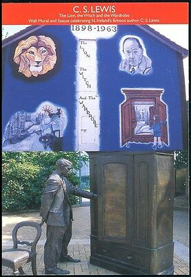 Postcard -C.s.lewis Wall Mural Celebrating N.ireland's  Famous Aurthor- Unposted