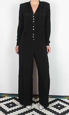 Jumpsuit UK 12 Medium approx. 1980's 80's  All in one Vintage (KAC)