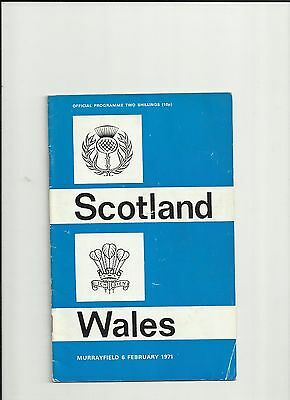 RUGBY SCOTLAND v WALES, MURRAYFIELD 6TH fEBRUARY, 1971