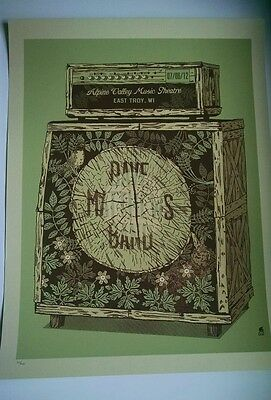 Dave Matthews Band Official Poster Print 2012 Alpine Valley East Troy WI #1400