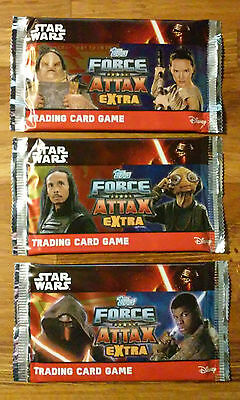 12x booster packs sealed. Force Attax extra, Star Wars the force awakens.