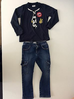 Moschino Boys Outfit, Set, Size Age 3 98cm, Jeans & Top, Vgc