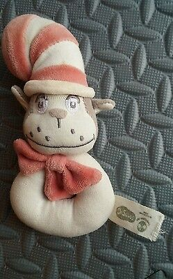 Cat in the hat Dr Seuss stuffed toy baby toy made of cotton. Ecofriendly.