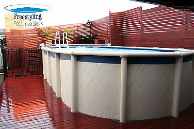 Above Ground Resin Swimming Pool Package 6.09m x 3.76m x 1.37m