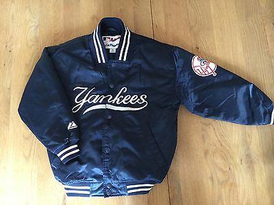 Kids Authentic Majestic New York Yankees Baseball Jacket Size Small (Youth)7-8 Y