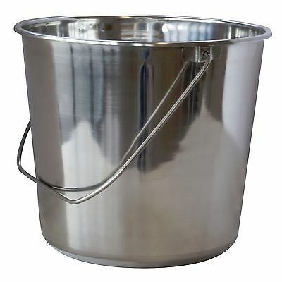 Stainless Steel 2.37 Gallon (9 Liters) (9.51 Qt) Bucket