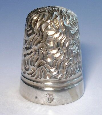 Antique Silver Thimble By Charles Iles