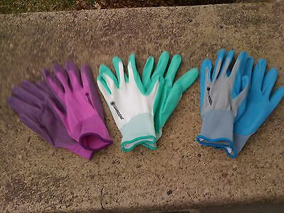 New,Woman's Work and Garden Gloves 1pair-3 colors to choose-Nitrile Coated Knit