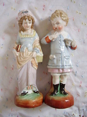 German  Bisque -porcelain lady and gent figurines,set of 2