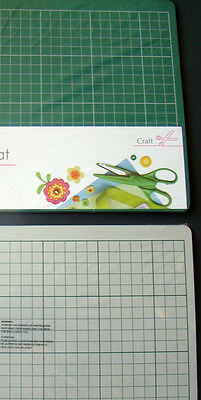 A2 Double Sided Self Healing Cutting Mat Green & White Sided Crafting Bnew