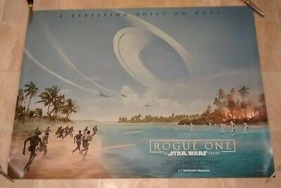 ROGUE ONE: A STAR WARS STORY 2016 CINEMA QUAD MOVIE POSTER. Perfect condition.