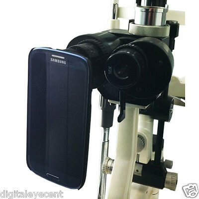 New Slit Lamp Eyepiece Digital Adapter for  Galaxy S6 Edge Plus w/ 3 sleeves inc