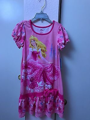 Disney Store Sleeping Beauty Pink Aurora Nightgown 5/6
