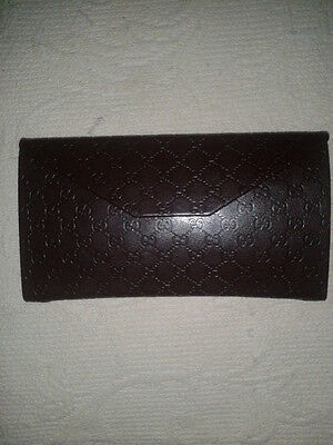 Gucci Foldaway Brown Leather Glasses Case. 3 Available!!