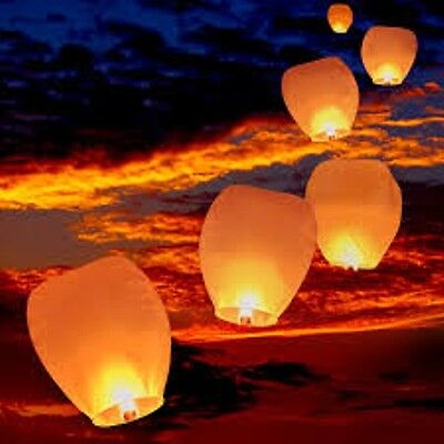 12 Pink Chinese Sky  Lanterns (ECO Friendly/100% Biodegradable /Wire Free)