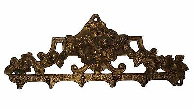 An unusual Old  Brass made unique Flowers classical Designed Coat hook INDIA