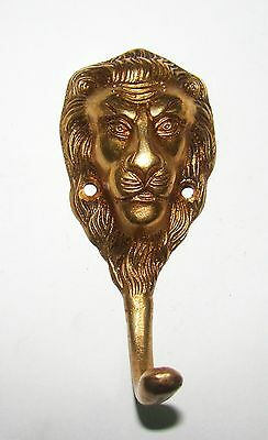A  MARVELOUS brass made A LION FACE designed coat hook from India