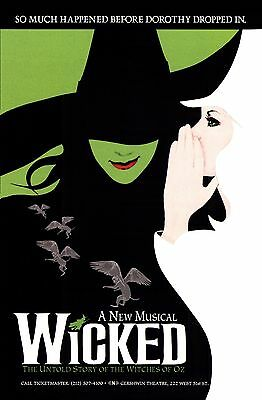 """WICKED - 11""""x17"""" - Reproduction Broadway POSTER - Wicked"""