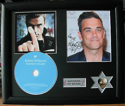 Robbie Williams Intensive Care Genuine CD, Autograph & Plectrum Presentation