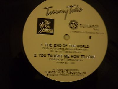 """Tommy Tate - What Gives You The Right, 4 Track 12"""" Single, 1984"""