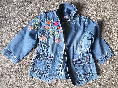 Girls Age 2/3 Years 'MONSOON' Blue Denim Jacket - Used