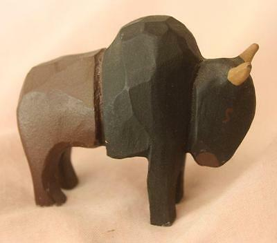Small Wood Carved Bison/Buffalo