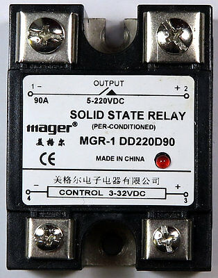 Solid State Relay 3-32V/5-220V 90A DC SSR