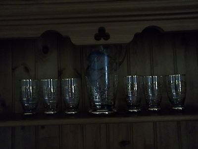 6 Sangria Glasses And Jug Featuring Fish