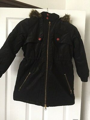 Reload Designer Coated Black Girls Winter Coat Jacket Age 7/8Years, 128cm