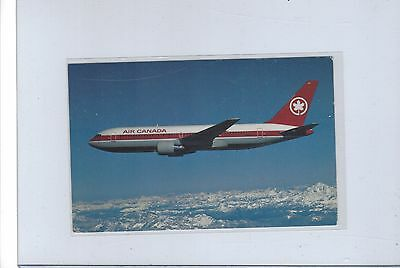 Air Canada airlines issued Boeing 767  postcard