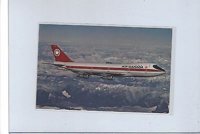 Air Canada airlines issued Boeing 747  postcard