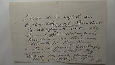 King Edward VII Autograph Hand  Signed Letter as King Queen Alexandra Husband