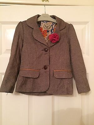 Girls Stunning Brown Jacket - Mothercare- 4-5 Yeasts