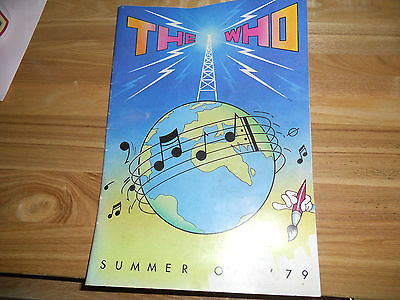 The Who Summer Tour 1979 Programme