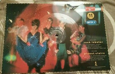 """The B52's Rock Lobster shaped 7"""" Picture Disk Vinyl Rare 1980's"""