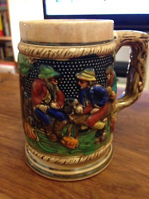 Bearded Men Beer Tankard Marked 'Foreign'