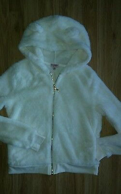 NWOT JUICY COUTURE ultra plush hoodie girls L 14 animal ears thumb holes GOLD