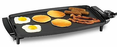 BLACK+DECKER GD1810BC Electric Griddle with Removable Temperature Probe, Black