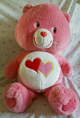 Large plush Love a lot care bear soft toy 27""