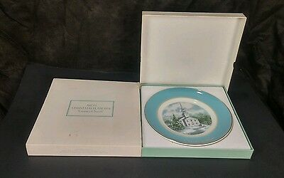 Vtg 1974 Country Church Avon Christmas Collectors Plate Second Edition Wedgwood