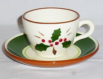 Stangl Holly Cup & Saucer