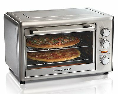 Hamilton Beach 31103 Countertop Oven with Convection and Rotisserie, Stainless S