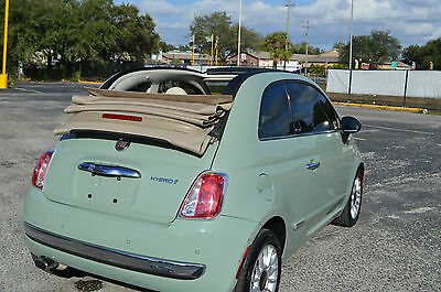 2012 Fiat 500 c Lounge Convertible 2-Door 2012 Fiat 500 c Lounge Convertible LOADED LEATHER LOW MILES BID TO WIN IT FL CAR